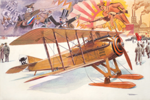 SPAD VII c.1 with Russian Skies
